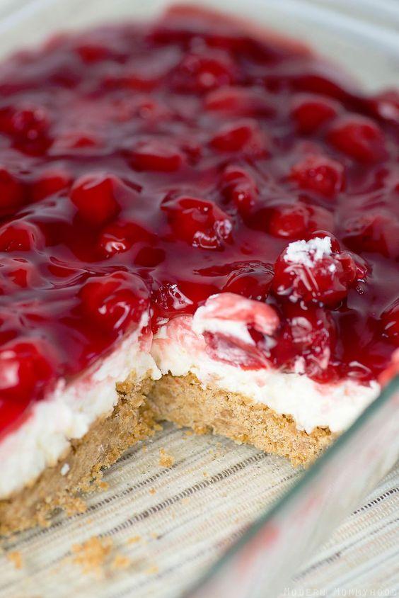 Cherry Delight #cherry #delight #cake #cakerecipes #dessert #dessertrecipes #dessertideas