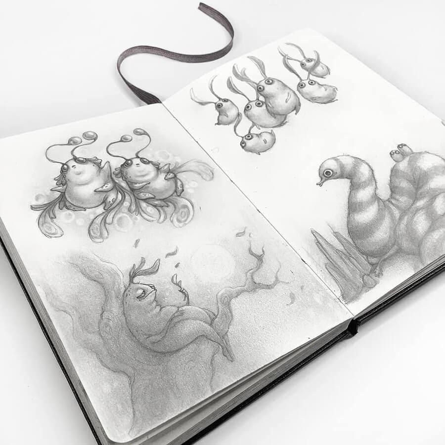 10-Drawings-of-Creatures-Stella-Bialek-www-designstack-co