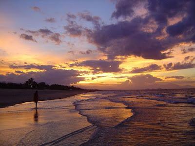 du lịch đà nẵng biển mỹ khê lúc hoàng hôn