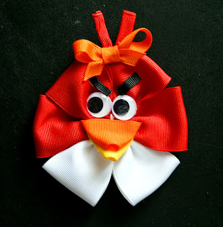 Angry bird hair clip. $4. 50, via etsy.   manualidades   pinterest.