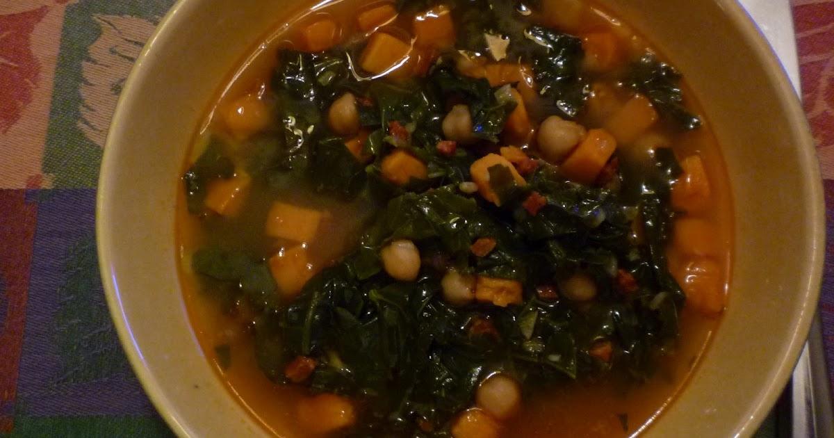 For Love of the Table: Kale, Sweet Potato & Chorizo Soup
