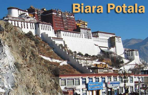 Biara Potala di kota Lhasa Tibet