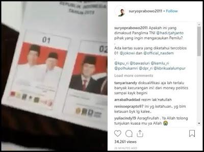 [VIDEO] Suryo Prabowo Ungkap Berkarung-karung Kertas Suara Sudah Tercoblos Capres 01