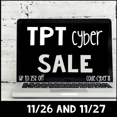 Fern Smith's Classroom Ideas Cyber Monday sale at TpT! Code CYBER18