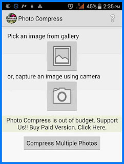 how to customize image size with photo compress
