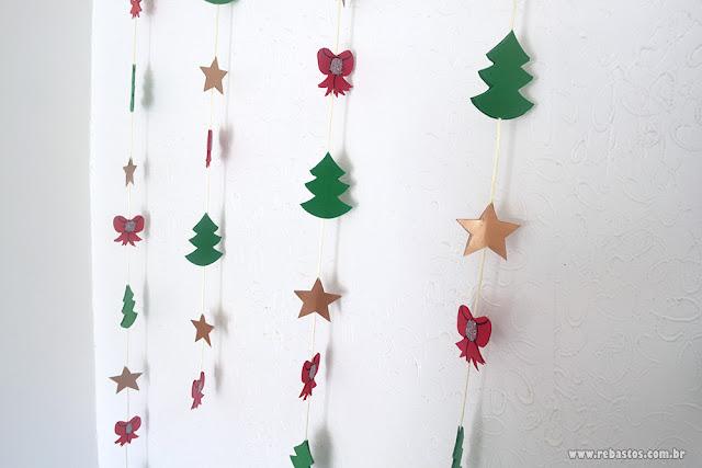 Decoração de Natal usando EVA e cartolina