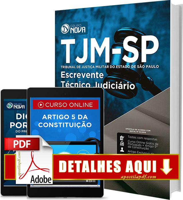 Apostila TJM SP 2016 Escrevente Técnico Judiciário Impressa