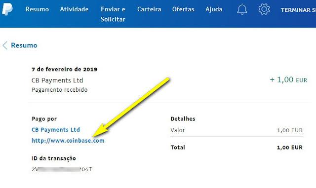 coinbase paypal levantamento dinheiro wallet