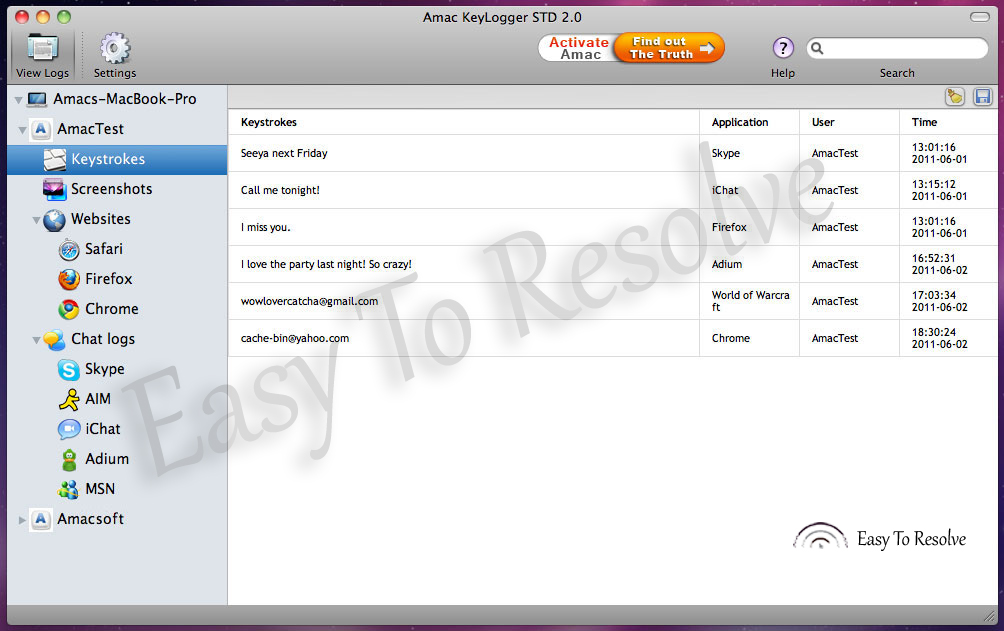 AMac Keylogger STD 2 0 With Additional Files Free Download