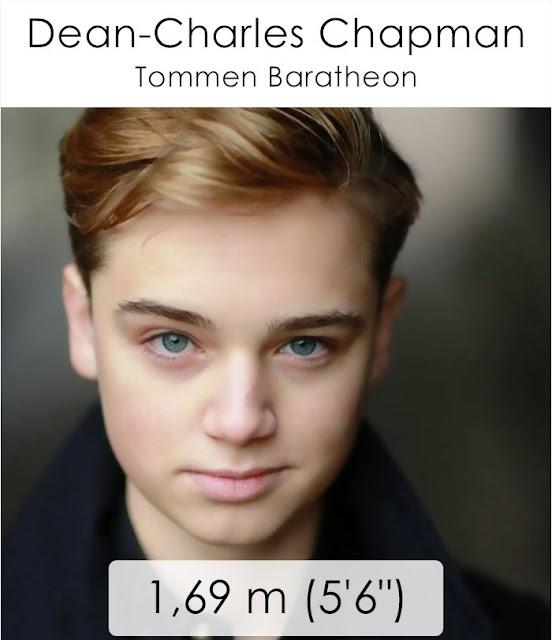 Dean-Charles Chapman (Tommen Baratheon) 1.69 m