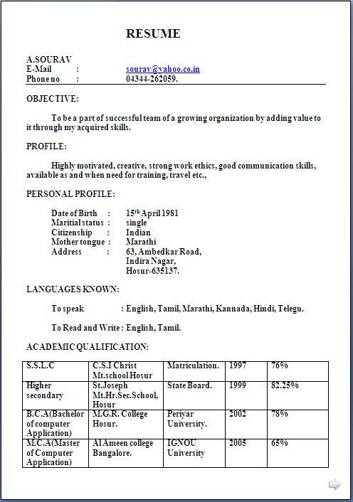 Technical Resume Best Sample Resume Resume Resume Examples