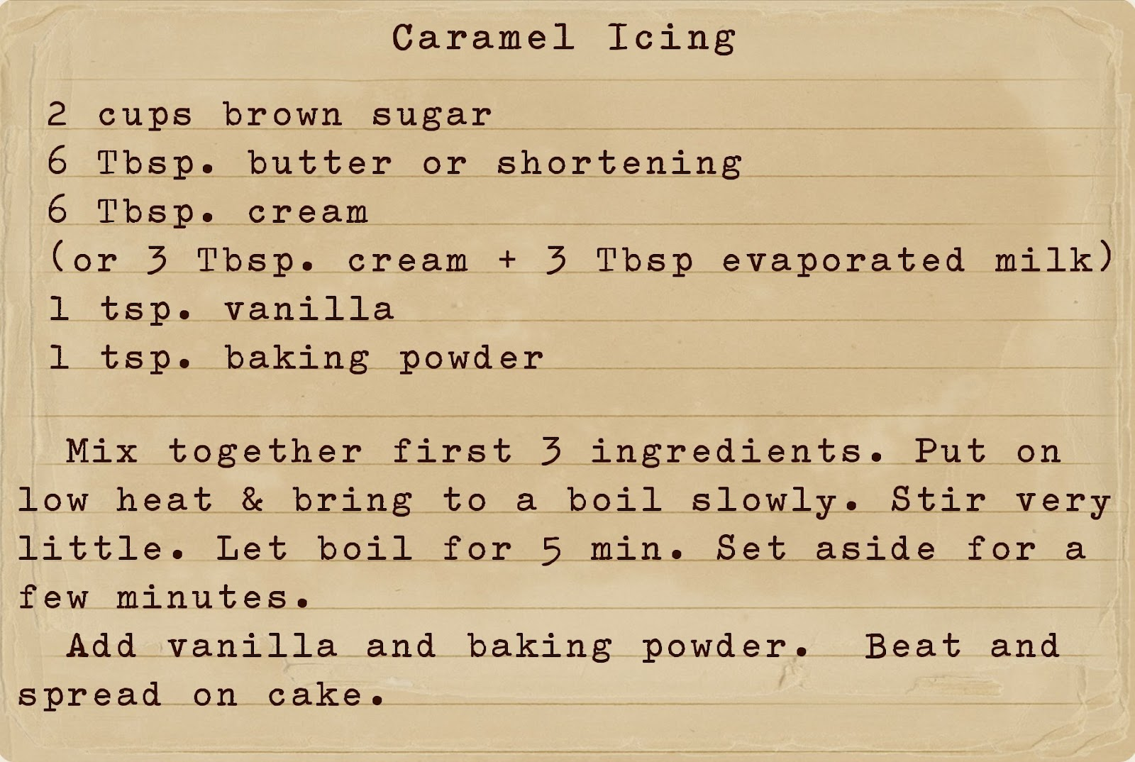 Honey Spice Cake Recipe