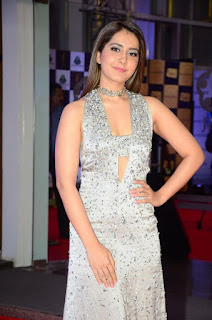 Telugu Actress Raashi Khanna Stills at Mirchi Music Awards South 2018 (6)