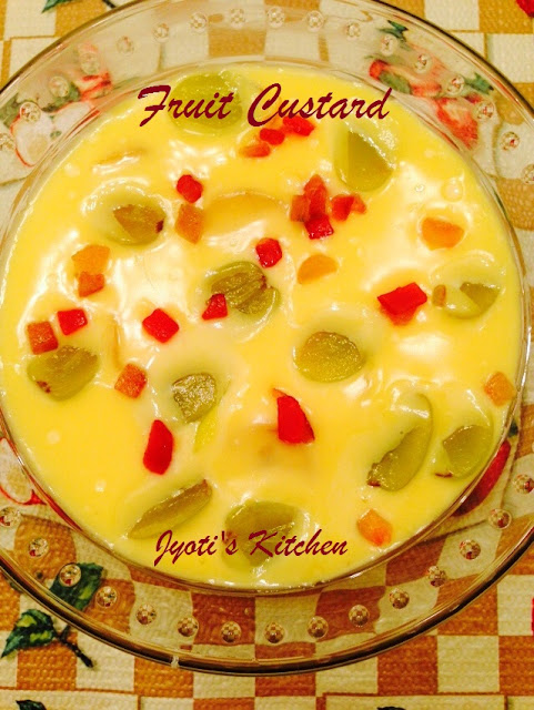 Fruit Custard Dessert Recipe