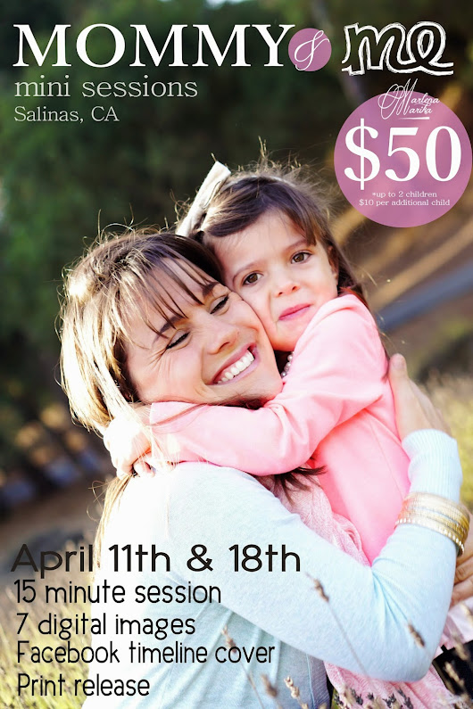 Mommy & Me and Daddy & Me Mini Sessions Announced!