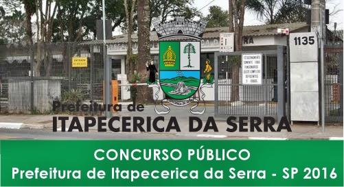 Apostila Prefeitura de Itapecerica da Serra SP 2016
