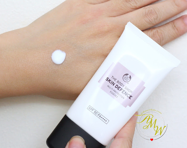 a photo of The Body Shop Skin Defense Multi Protection Essence SPF50 and The Body Shop Vitamin E Moisture Protect Emulsion