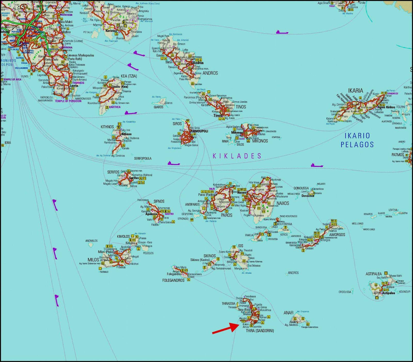 Amado Mapas de Santorini - Grécia | MapasBlog JX75