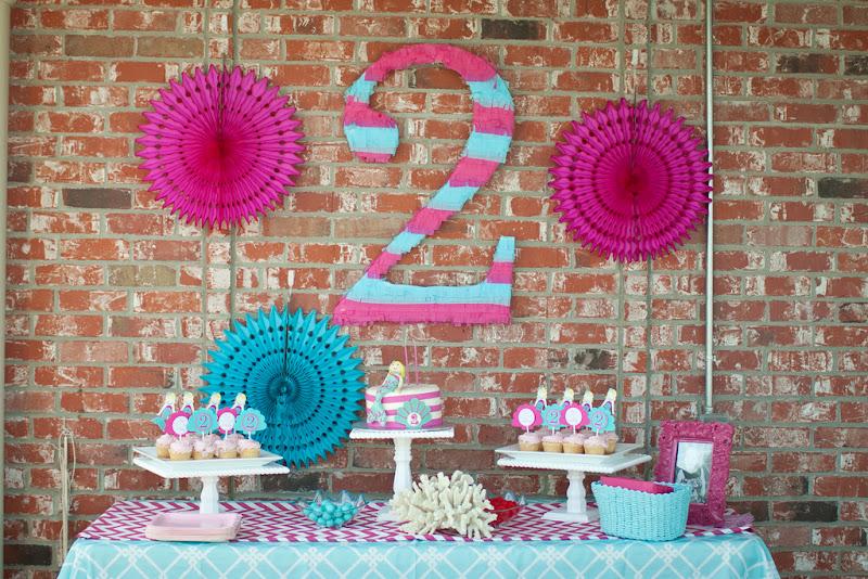 Mermaid 2nd Birthday Party