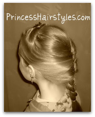 snow white french braid