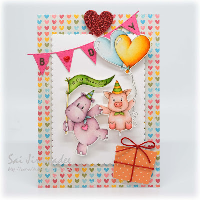 Animal Banner Interactive Birthday Card