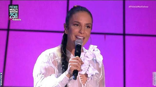 Maior vencedora do Prêmio Multishow, Ivete foi a única cantora baiana premiada em 2018