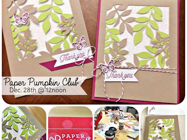 My Paper Pumpkin Club Meeting