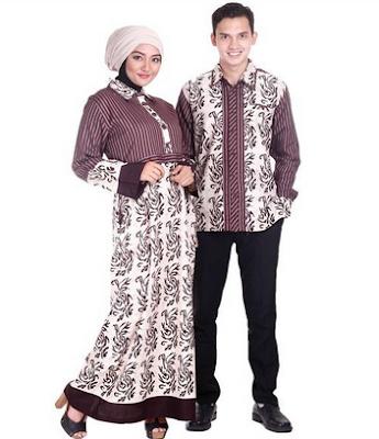 Baju batik sarimbit lebaran untuk pasangan pria wanita