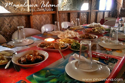 Lunch at Magalawa Island in Palauig Zambales
