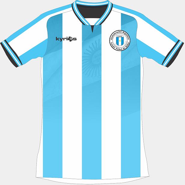 Kyrios Sport divulga novas camisas da Seleção Argentina de futsal ... 5f20bad08c35c