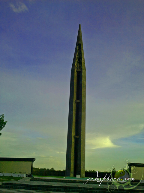 Memorial Obelisk at the Capas National Shrine in Capas, Tarlac Philippines