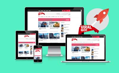 viral go responsivel blogger template free