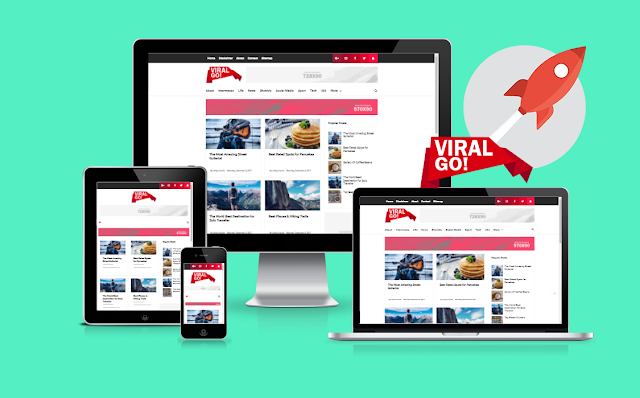 Viral Go responsive Blogger template free 2018