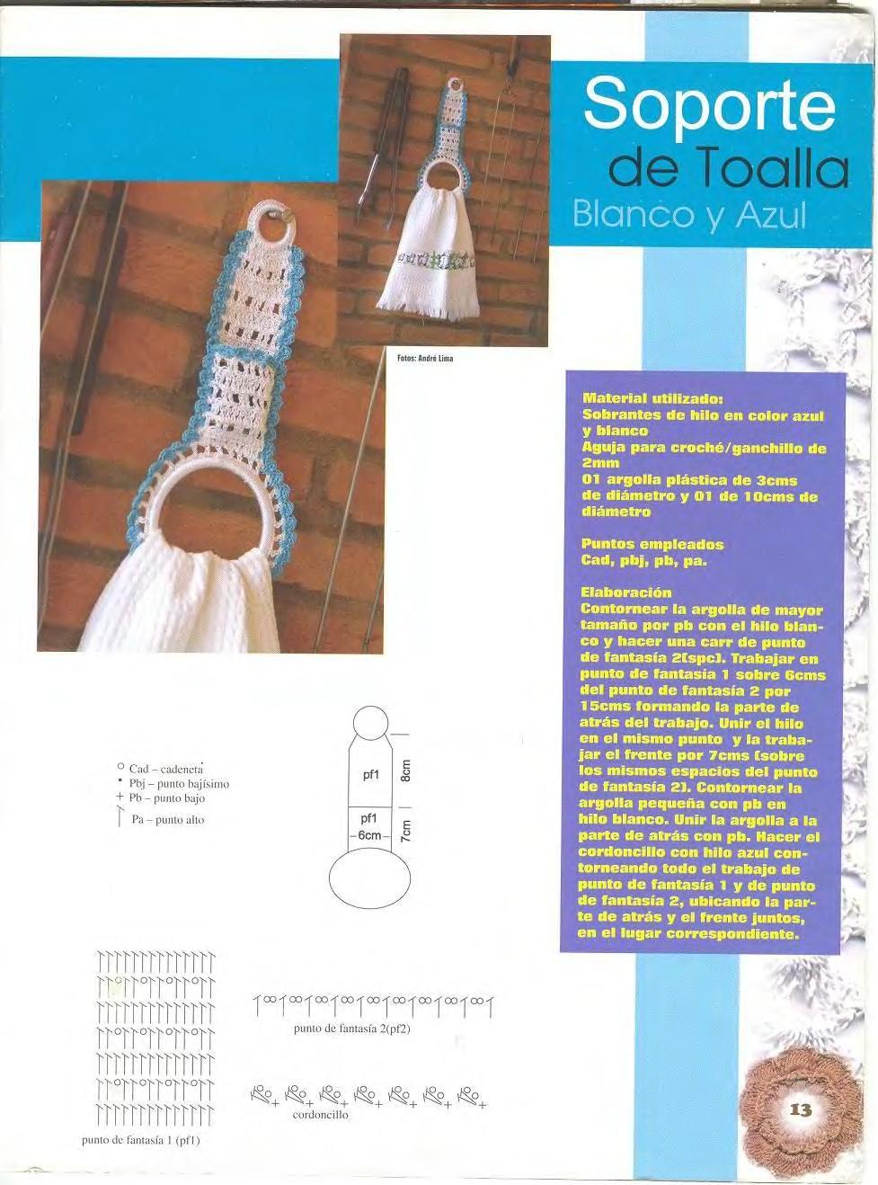 Patron Crochet Soporte de Toalla