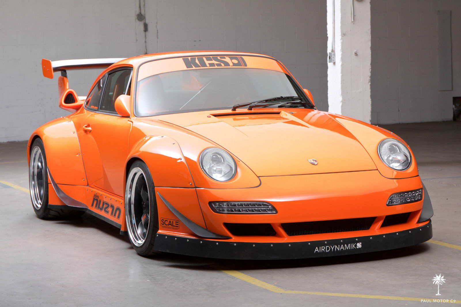 Crazy Widebody Corvette Powered 1995 Porsche 911 Hits