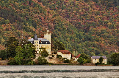 Ruphy castle on Annecy lake