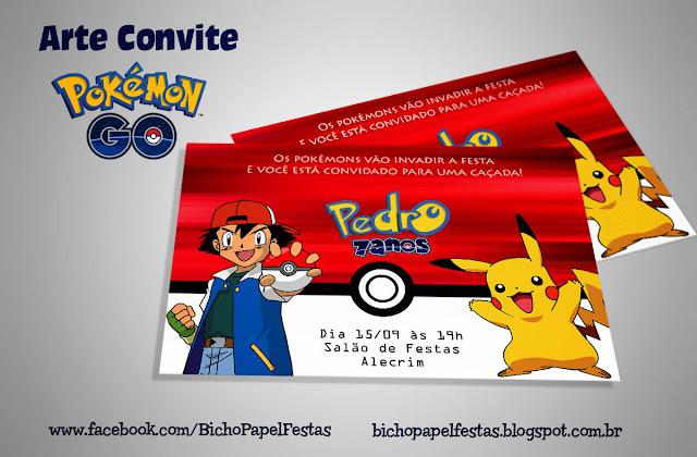 Convite Pokémon Go