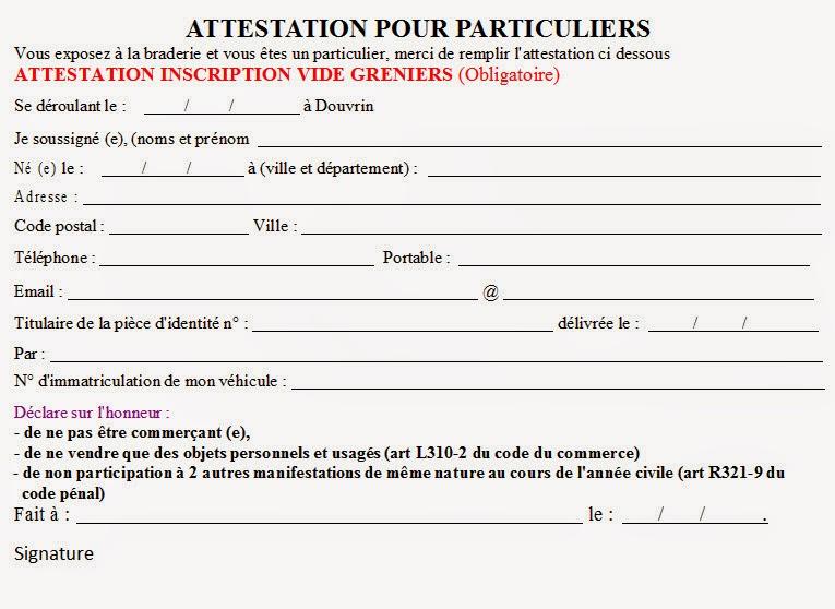 Exemple D Attestation Sur L Honneur