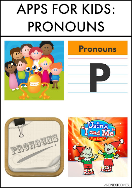 Speech therapy apps for kids to practice pronouns - great app suggestions for kids with hyperlexia or autism from And Next Comes L