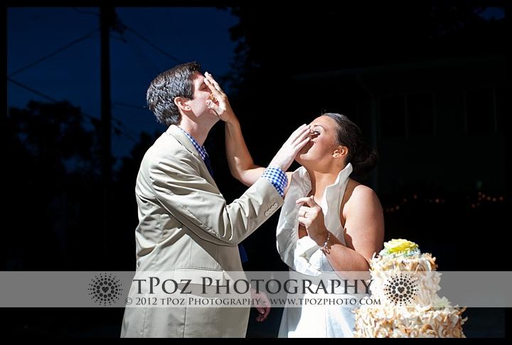 Cake Cutting at Port Annapolis Marina Wedding Reception