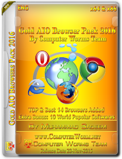 Gold AIO Browsers Pack [2016] Computer Software  [658.0 MB]