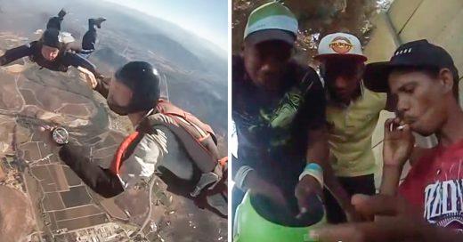 A más de 1000 metros tira su GoPro y graba como se la roban