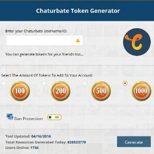 http://chaturbatetokenshack.com/chaturbate-token-generator/