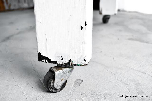 wheels on farm table