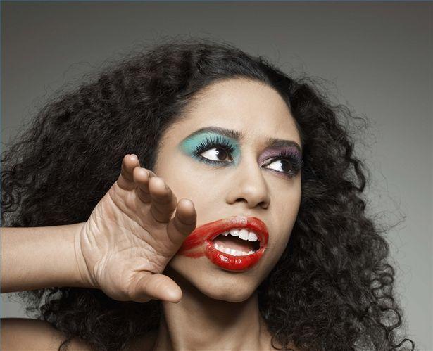 Makeup on model smudging