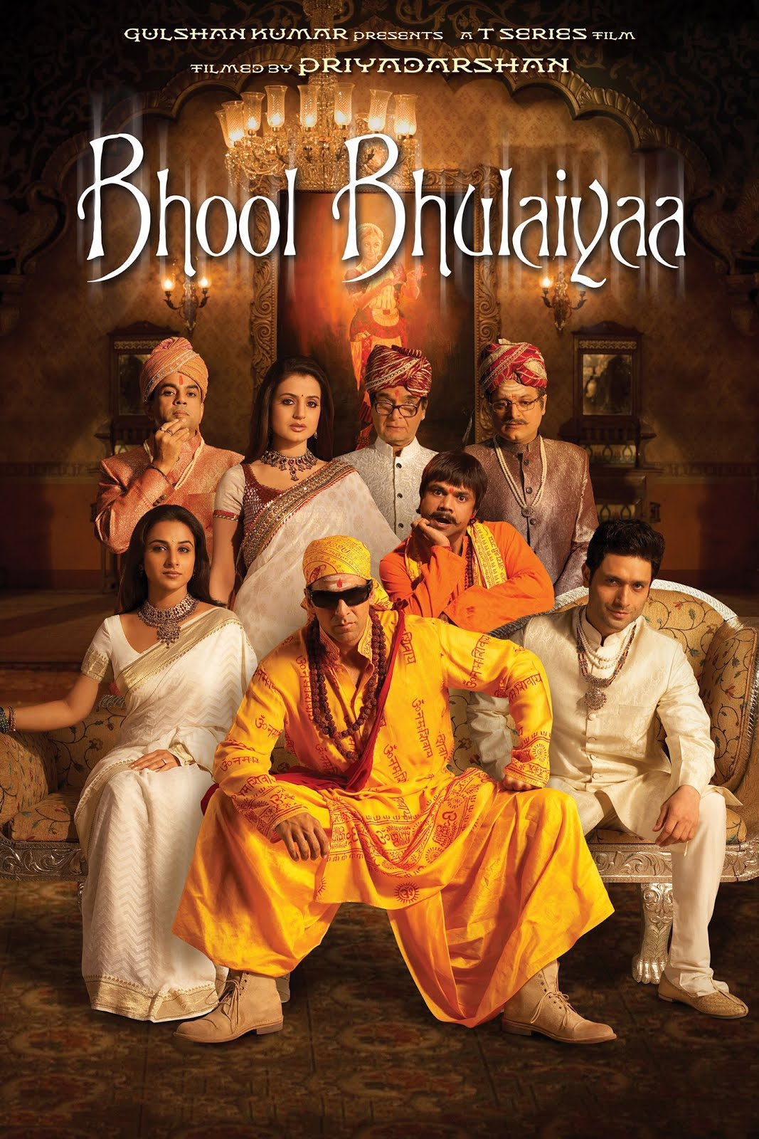 Bhool Bhulaiyaa 2007 Hindi Movie 720p BluRay 1GB ESubs