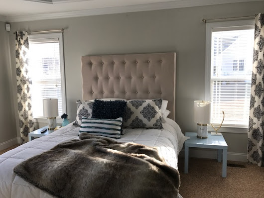 DIY Custom Tufted Headboard
