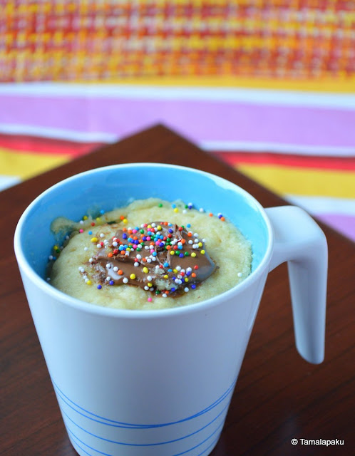 Vegan Coconut Milk Mug Cake