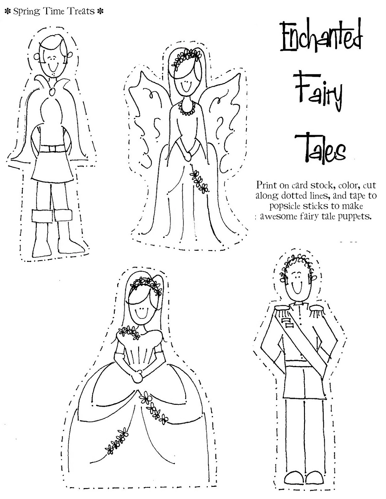 Spring Time Treats: paper dolls / puppets