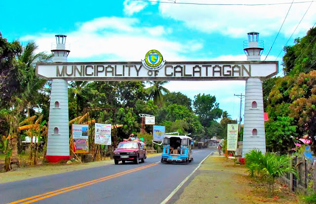 The Calatagan, Batangas Welcome Arch.  Image source:  Mapio.net.